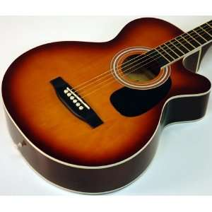 SUNBURST BEAUTY STUDENT 38 ACOUSTIC GUITAR Musical Instruments