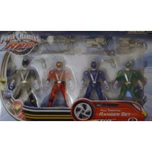 Power Rangers RPM Full Throttle 4 Ranger Set Toys & Games