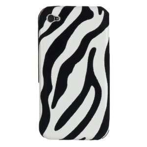Apple iPhone 4 * Zebra Stripes * Hard Case * (Black & White) 16GB