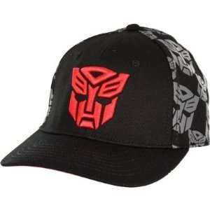 : Transformers Autobot Logo Print Flex Fit Baseball Cap: Toys & Games