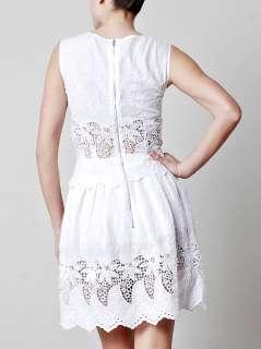Lace embroidered mini dress  Suno