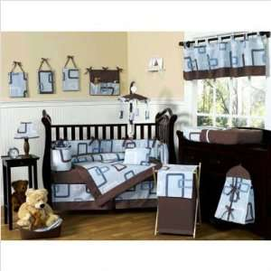 Bundle 94 Blue and Brown Geo Crib Bedding Set