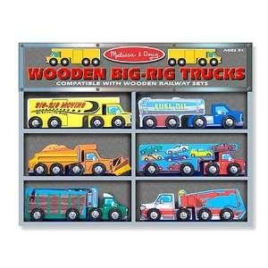 Melissa and Doug Wooden Big Rig Trucks Toys & Games