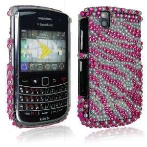For Blackberry Bold Tour 9650 9630 Pink White Zebra Design