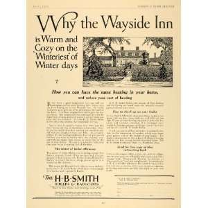 1926 Ad H B Smith Boilers Radiators Heating Wayside Inn