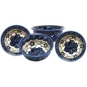 Polish Pottery Bowl 309 46 set of 4: Kitchen & Dining