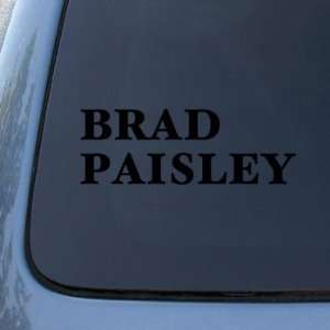 BRAD PAISLEY   Vinyl Car Decal Sticker #1842  Vinyl Color Black