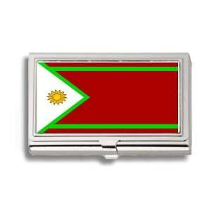 Islands Juzur Flag Business Card Holder Metal Case