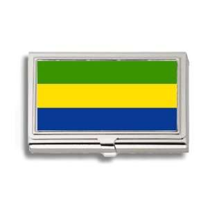 Gabon Gabonese Flag Business Card Holder Metal Case
