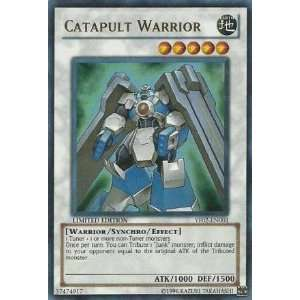 Yugioh Catapult Warrior Yf02 en001 Ultra Rare Foil Card : Toys & Games