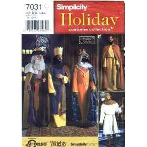 Simplicity 7031 Sewing Pattern Mens Nativity Costumes