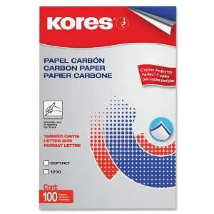 Industrias Kores De Mexico KORPEN11BK Pencil Carbon Paper, 100 Sheets