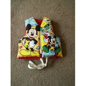 Coral Disney Mickey Mouse childs life jacket   size Child   front