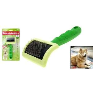 Como Green Handle Pet Dog & Cat Bristles Grooming Brush
