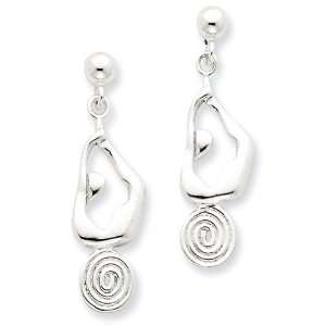 Sterling Silver Yoga Post Earrings Jewelry