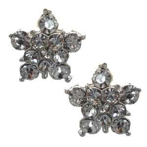 Naeva Silver Clear Crystal Clip On Earrings Jewelry