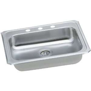 25 Top Mount Single Bowl Stainless Steel Sink with 20 Gauge, 5 3