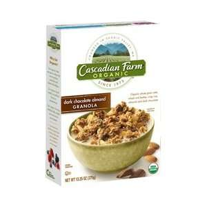 Cascadian Farm Dark Chocolate Almond Granola Cereal, 13.3 oz (Pack of