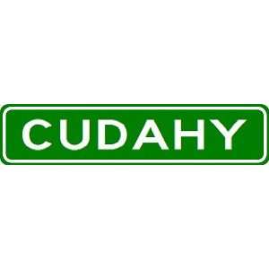 CUDAHY City Limit Sign   High Quality Aluminum