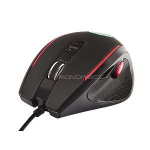 Monoprice 5 Button Optical Laser Gaming Mouse   Black