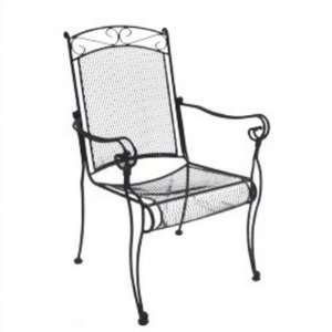 Charleston Wrought Iron High Back Dining Chair Patio, Lawn & Garden