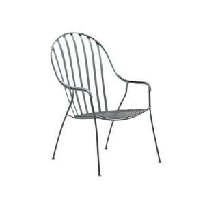Woodard Valencia Wrought Iron High Back Barrel Patio Chair