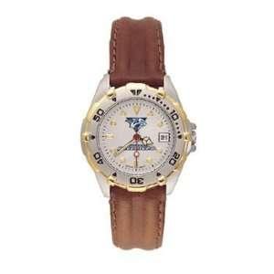 Predators All Star Ladies Black Leather Strap Watch