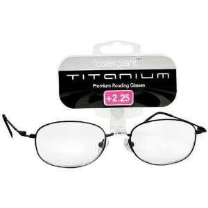 2.25 Strength Foster Grant Black Titanium Premium Reading