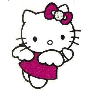 Hello Kitty angel wings hot pink bow & dress Iron On Transfer for T