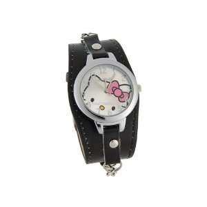 Hello Kitty Dial PU leather Electronic Girls Kids Wrist Watch
