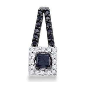 Fashion Pendant 10k White Gold Charm (1/2 Carat) Jewel Roses Jewelry