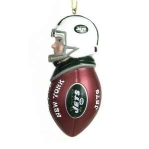 New York Jets NFL Team Tackler Player Ornament (4.5 Caucasian