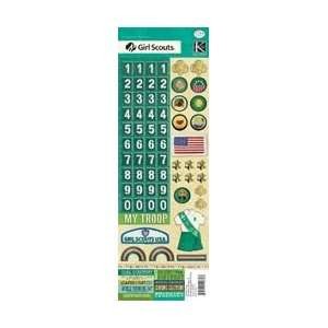 Girl Scout Numbers/Badges/Words K550827; 3 Items/Order