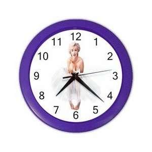 Marilyn Monroe Wall Clock Purple