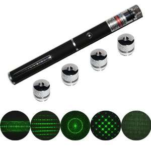 QQ Tech® 5mW 5in1 High Power Green Laser Pointer Pen with