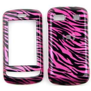 LG Xenon GR500 Transparent Design, Hot Pink Zebra Hard Case