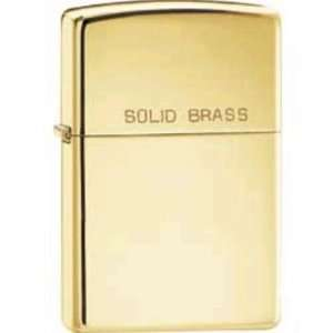 Zippo Lighters 10760 Zippo Lighter with High Polished Brass Body