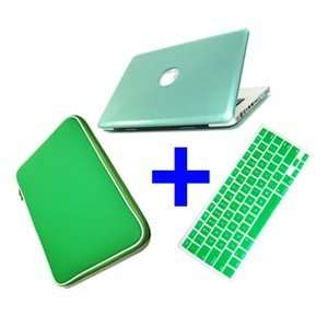 MBP Metallic Green 3 in 1 Hard Case Keyboard Cover Bag for New Macbook