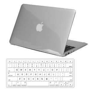 Case + Clear Silicone Keyboard Skin Cover for Apple MacBook Air 13.3