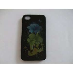iPhone 4G   Magic Flowers Black Hard Case Protector Cover
