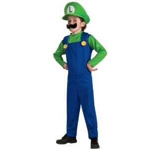 Luigi Costume Child Large 12 14 Super Mario Brothers Toys & Games