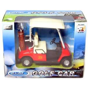 Golf Car with Miniature Golf Clubs and Pull Back Action Toys & Games