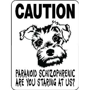 MINIATURE SCHNAUZER ALUMINUM GUARD DOG SIGN PSMS