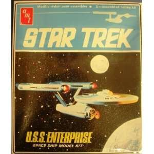 Star Trek USS Enterprise Space Ship Model Kit AMT Ertl Toys & Games