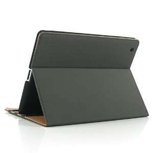 Grey / Leather Stand Case Cover for Apple iPad 3/The New
