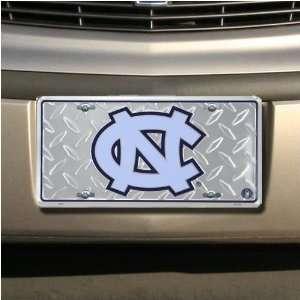 North Carolina Tar Heels Diamond Metal License Plate
