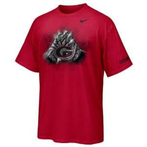 Georgia Bulldogs Nike Gloves T Shirt