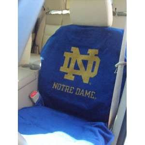 Notre Dame Fighting Irish Car Seat Cover   Sports Towel