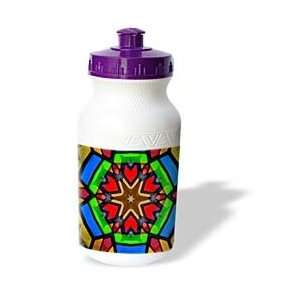 Colorful Star Pattern Design   Water Bottles
