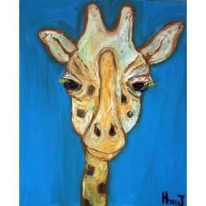 Giraffe Painting, Animal Paintings, Nursery Art Decor